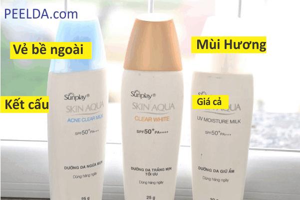 Review Kem Chống Nắng Skin Aqua Acne Clear Milk